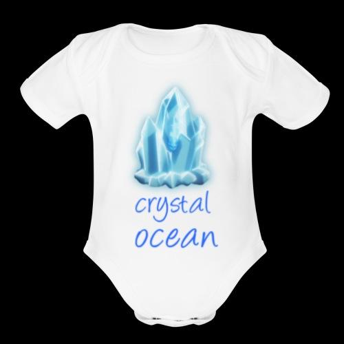 crystal man 75 - Organic Short Sleeve Baby Bodysuit
