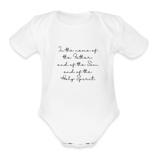 The sign of the cross - Organic Short Sleeve Baby Bodysuit