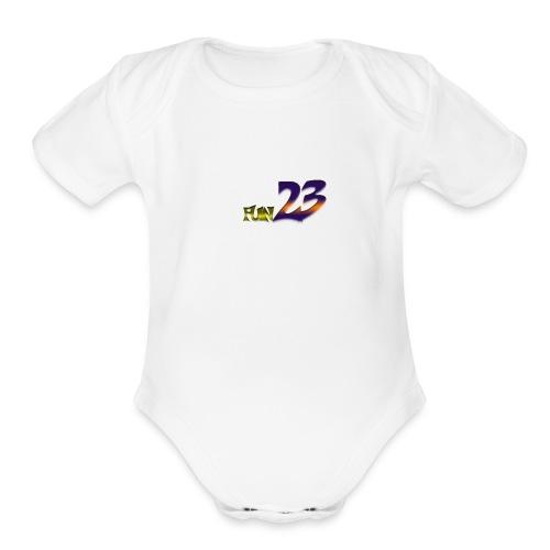 fun 23 - Organic Short Sleeve Baby Bodysuit