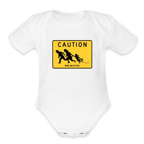 CAUTION SIGN - Organic Short Sleeve Baby Bodysuit