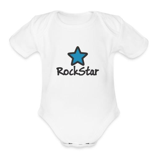 RockStar - Organic Short Sleeve Baby Bodysuit