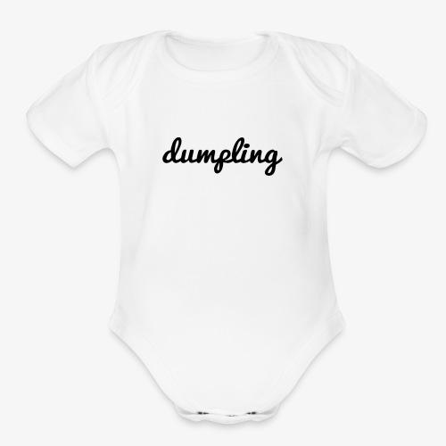DUMPLING (BLACK) - Organic Short Sleeve Baby Bodysuit
