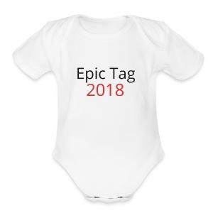Epic Tag Word Logo - Short Sleeve Baby Bodysuit