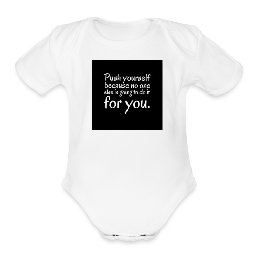 Motivation - Organic Short Sleeve Baby Bodysuit