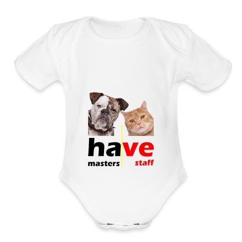 Dog & Cat - Organic Short Sleeve Baby Bodysuit
