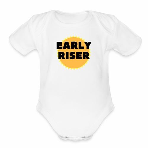 Early Riser - Organic Short Sleeve Baby Bodysuit