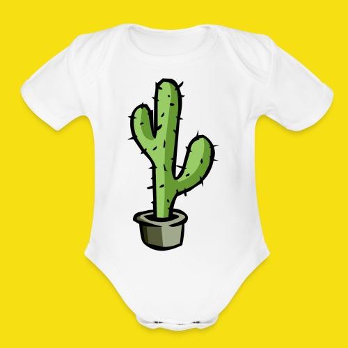 Prickly Cactus - Organic Short Sleeve Baby Bodysuit