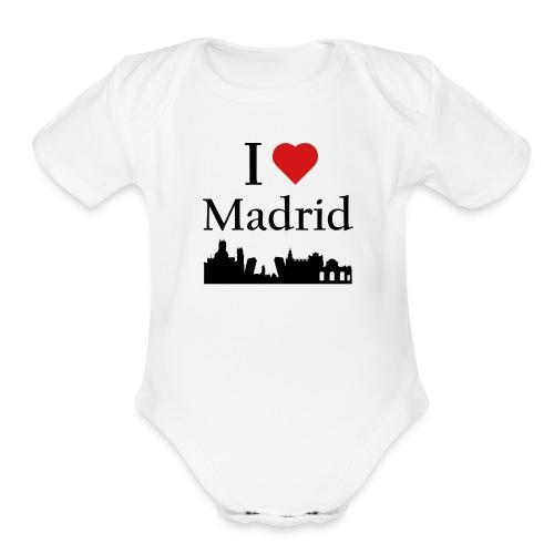 I Love Madrid - Organic Short Sleeve Baby Bodysuit