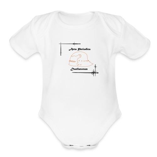 APD logo - Organic Short Sleeve Baby Bodysuit