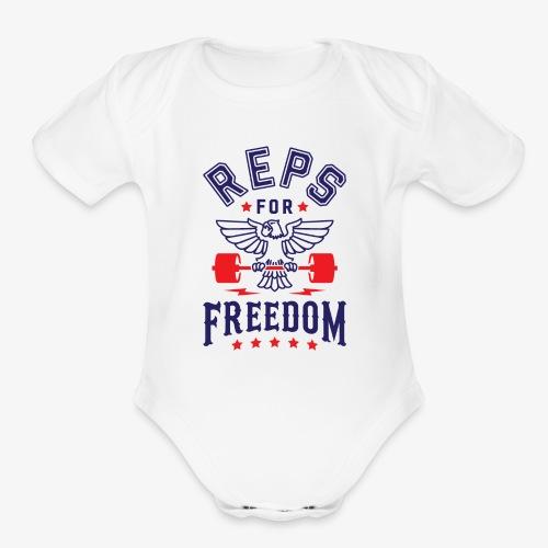 Reps For Freedom - Organic Short Sleeve Baby Bodysuit