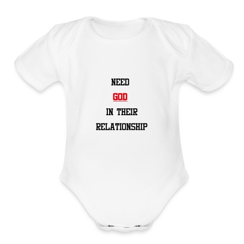 NEED GOD T-shirt - Organic Short Sleeve Baby Bodysuit