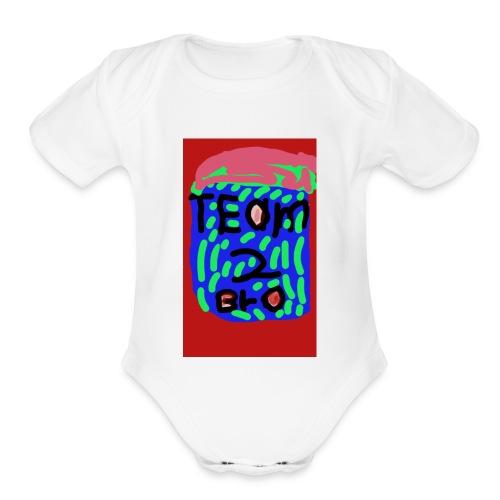 Untitled13 - Organic Short Sleeve Baby Bodysuit