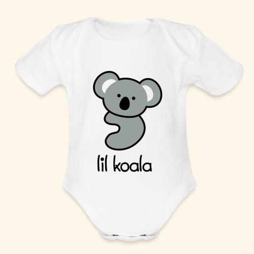 lil koala - Organic Short Sleeve Baby Bodysuit