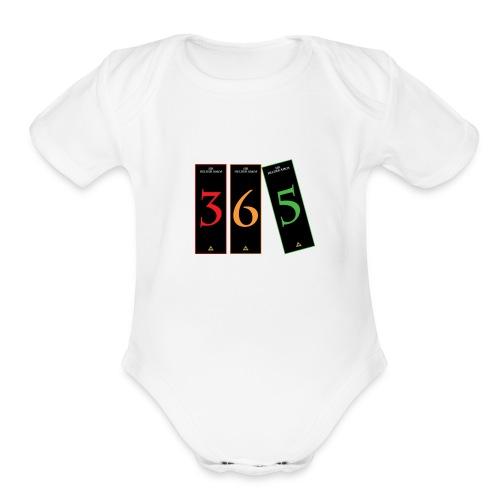 365 Microcuennos Logo - Organic Short Sleeve Baby Bodysuit