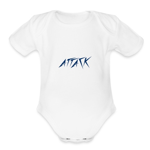 The attackers logo - Organic Short Sleeve Baby Bodysuit