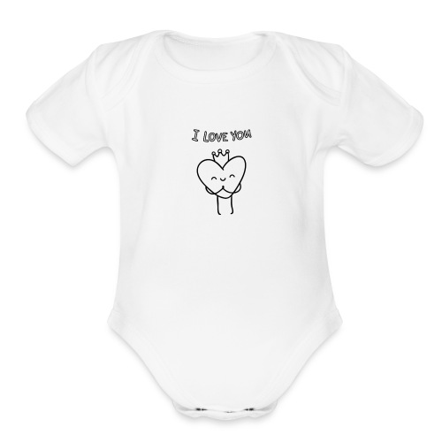 i-love-you shirts an objects - Organic Short Sleeve Baby Bodysuit