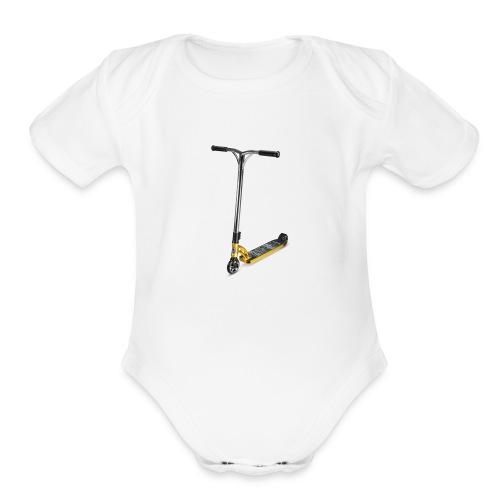 gold scooter - Organic Short Sleeve Baby Bodysuit