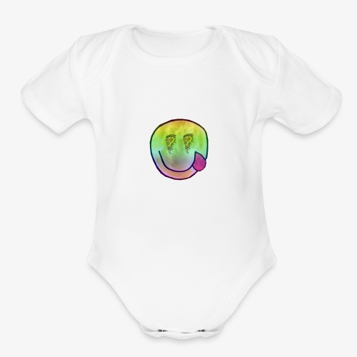 Pizza vision - Organic Short Sleeve Baby Bodysuit