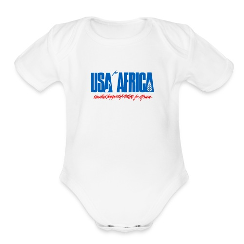 USA for africa merch - Organic Short Sleeve Baby Bodysuit