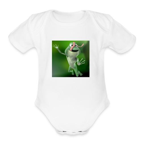 Capture 2017 12 08 17 31 39 1 green frog - Organic Short Sleeve Baby Bodysuit
