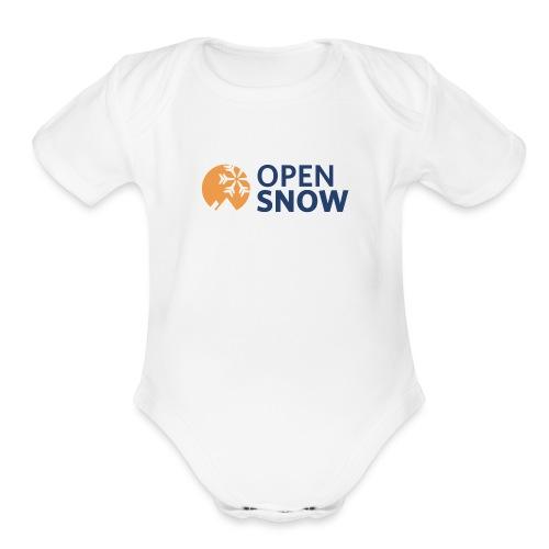 OpenSnow Horizontal Logo - Organic Short Sleeve Baby Bodysuit