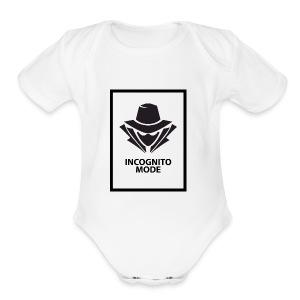 Incognito Mode (Black) - Short Sleeve Baby Bodysuit