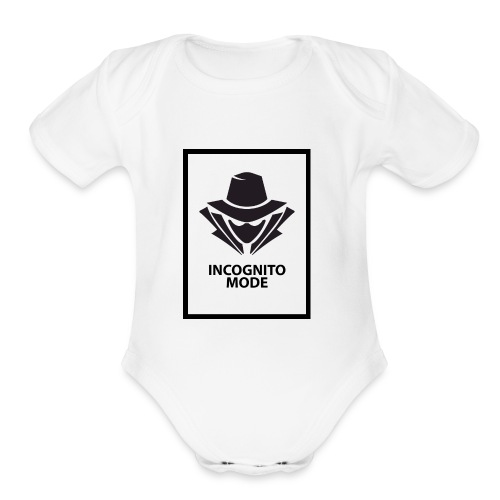 Incognito Mode (Black) - Organic Short Sleeve Baby Bodysuit