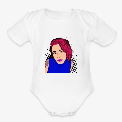 Chatty Caddie - Organic Short Sleeve Baby Bodysuit