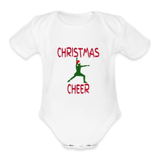 Christmas Cheer - Organic Short Sleeve Baby Bodysuit