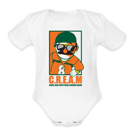 pepebillete cream - Organic Short Sleeve Baby Bodysuit