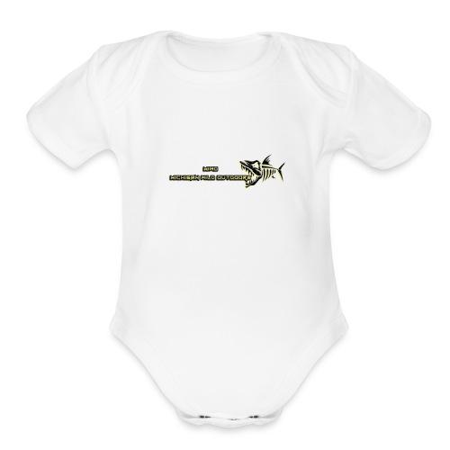 MIWO Skeleton Logo - Organic Short Sleeve Baby Bodysuit