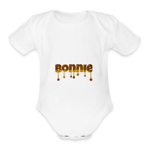 Bonnie chocolate - Short Sleeve Baby Bodysuit