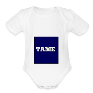 TAME Blue - Short Sleeve Baby Bodysuit