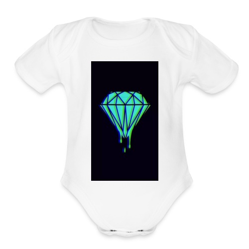 Fresh diamonds - Organic Short Sleeve Baby Bodysuit