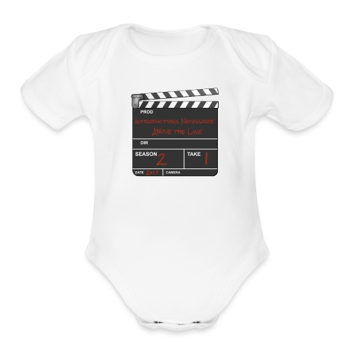 IN: Above The Line Logo - Organic Short Sleeve Baby Bodysuit