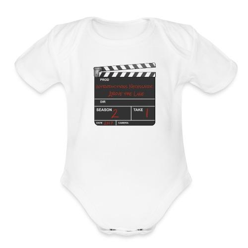 IN: Above The Line Logo - Organic Short Sleeve Baby Bodysuit