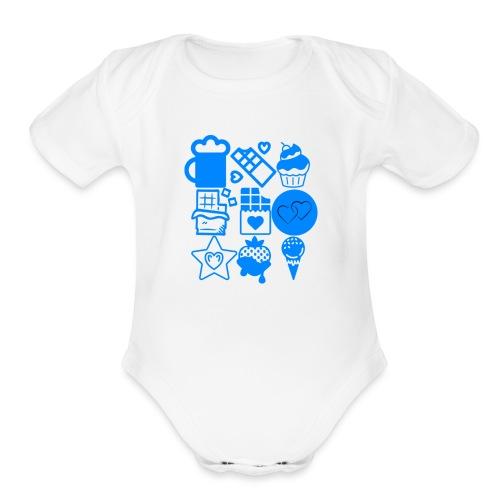 CHOCOLATE - Organic Short Sleeve Baby Bodysuit