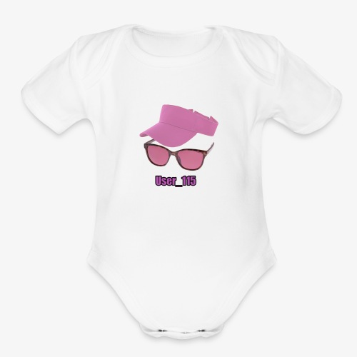Glasses And Hat - Organic Short Sleeve Baby Bodysuit