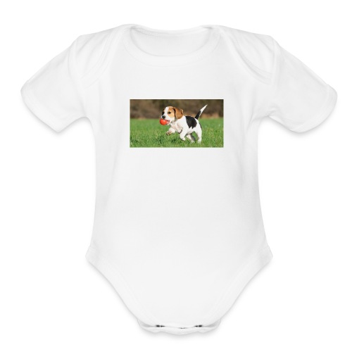 23695 pets vertical store dogs small tile 8 CB312 - Organic Short Sleeve Baby Bodysuit