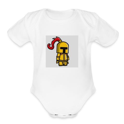 KNIGHT SHIRT - Organic Short Sleeve Baby Bodysuit