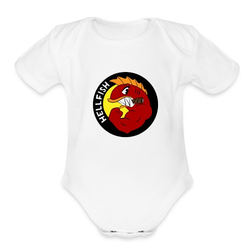 Hellfish - Flying Hellfish - Organic Short Sleeve Baby Bodysuit