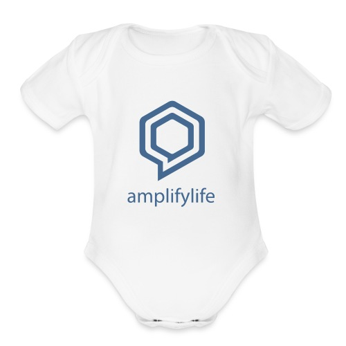 amplifylife - Organic Short Sleeve Baby Bodysuit