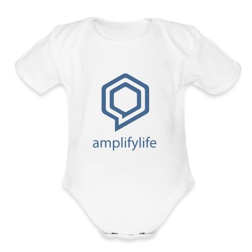 amplifylife - Organic Short Sleeve Baby Bodysuit