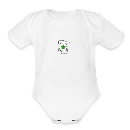 LEAF FACE - Organic Short Sleeve Baby Bodysuit