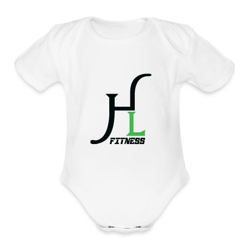 HIIT Life Fitness Logo - Organic Short Sleeve Baby Bodysuit