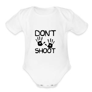 Don't Shoot - Short Sleeve Baby Bodysuit