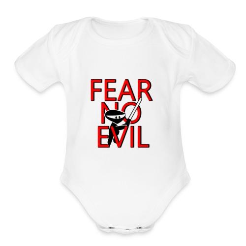 FEAR NO EVIL - Organic Short Sleeve Baby Bodysuit