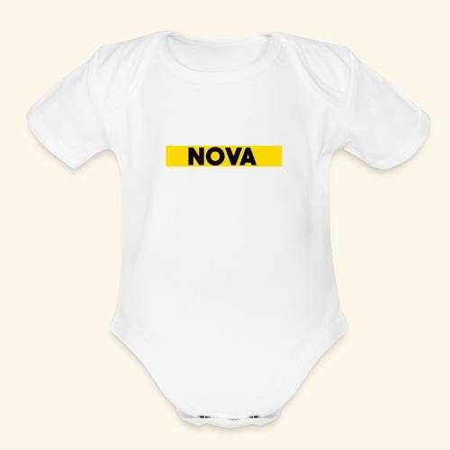 Nova Box Logo - Organic Short Sleeve Baby Bodysuit