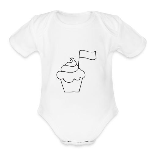 Cupcake Doo-Dats - Organic Short Sleeve Baby Bodysuit
