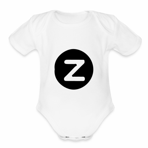z logo - Organic Short Sleeve Baby Bodysuit